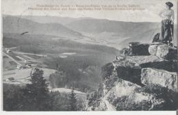 DONON - LE DONON. CPA Voyagée En 1910 Plate Forme Du Donon Au Dos Timbre Allemand Et Cachet Hôtel Velleda - Autres Communes