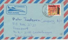 Zimbabwe Air Mail Cover Sent To Denmark - Zimbabwe (1980-...)