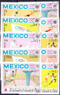 Jemen (Königreich Jemen) - Olympiade Mexiko (MiNr: 493/502) 1968 - Gest Used Obl - Yemen