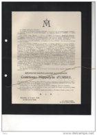 Charles Baron De Rossius D'Humain Ingénieur°Liège 1863 + 30/3/1946 Robermont Dresse DeLébioles Peltzer - Avvisi Di Necrologio