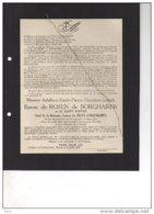 Adalbert De Rosen De Borgharen Veuf De Selys Longchamps Bourgmestre Waltwilder 1614-18 °1877 + Bilzen 6/7/1947 Moffaerts - Avvisi Di Necrologio