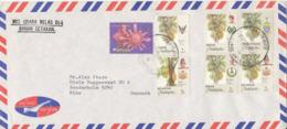 Malaysia Air Mail Cover Sent To Denmark Pasir Mas Kelantan 27-6-1990 Topic Stamps - Malaysia (1964-...)