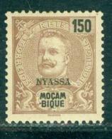 1898 King Carlos I,NYASSA/Mozambique,Mi.20 - 50 R,MLH - Nyassaland