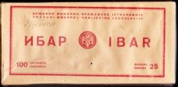 KINGDOM  JUGOSLAVIA - BOSNIA - BANJA LUKA - IBAR BOX 100 Cigars - Cc 1925/30 - EXTRA RARE - Empty Tobacco Boxes