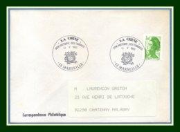 Bureau Temporaire BT La Chine Marseille 1983 / N° 2222 Roul. Liberté Dragons - Commemorative Postmarks