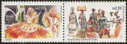 BRAZIL #3199 -  Diplomatic Relations With Belgium - Carnival ( Mardi Grass )  2 Values - 2011   MINT - Brazil