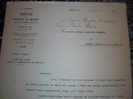 Militaria   Génie 7éme Région Chefferie De Belfort Acquisition D Un Terrain Par L Armée 1938 - Documents