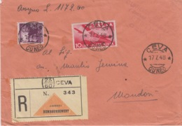 447 -  - STORIA POSTALE - BUSTA - DA CUNEO A CEVA CON RICEVUTA - 6. 1946-.. Repubblica
