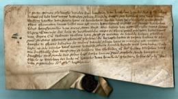 AKTE September 1515 - Engagement Tot Ondersteuning - Stadszegel Van ELVERSELE -middel Nederlands - Gebührenstempel, Impoststempel