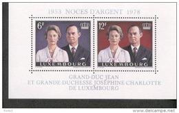 Luxemburg Block 11 Großherzogpaar MNH Postfrisch ** - Blocs & Hojas