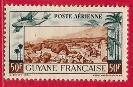 Guyane Française PA N°21 50F Vert-bleu & Brun-rouge 1942 ** - Neufs