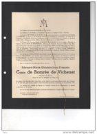 Edouard De Romrée De Vichenet Volontaire De Guerre °1897 + Vernet Les Bains (Pyrénées 21/11/1938) Rosaire BOssières Bea - Avvisi Di Necrologio