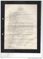 Rolin Christiane °Malines 1922 + 26/6/1944 Beloeil Rhode St Genèse TErlinden Jaequemyns Laveleye - Avvisi Di Necrologio