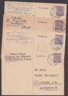 P 10, 4 Bedarfskarten, Alles Kleine Orte ! - Zone Soviétique