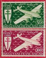 Guyane Française PA N°26 & 27 1945 ** - Neufs