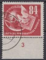"MiNr. 260 ""Debria"", 1950, Unterrandstück, Sauber Gestempelt - Oblitérés"