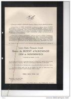 Elisab De Roest D'Alkemade Oem De Moesenbroeck 1940-45 °1917 + Davos 20/2/1954 Edegem D'Udekem D'Acoz Brouchoven - Avvisi Di Necrologio