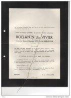 Roelants Du Vivier Veuve Petit Grandvoir °Hasset 1882 +26/10/1958 Robermont Rijkhoven De Hontheim De Schaetzen Oplinter - Avvisi Di Necrologio
