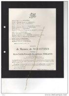 Baronnes De Schaetzen Roelants Nerem °1878 + Brussel 28/12/1960 Tongeren De Biolley Le Maistre D'Anstaing De Wasseige - Avvisi Di Necrologio