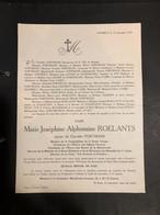 Mrie Roelants Epouse Portmans °Hasselt 1862 + 1933 Bourgmestre Hasselt Linard De Guertechin Goetsbloets Otten - Avvisi Di Necrologio