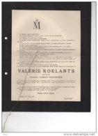 Valerie Roelants épouse Joseph Schaetzen °Stevoort + 2/2/1914 Tongeren Viiver De Corswarem De La Vallée Poussin - Avvisi Di Necrologio