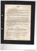 Robyns De Schneidauer CIamberlani °st Josse 1869 + 6/9/1940 Vlezenbeek Ixelles Schietere De Lophem De Borman Heusch - Avvisi Di Necrologio