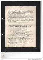 Auguste Robeyns De Schneidauer Veuf Ciamberlani Ethiopie Roumanie °1867 + 16/7/1940 Vlezenbeek Etterbeek Van Der Elst - Avvisi Di Necrologio