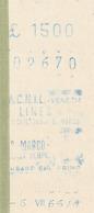 TICKET - BILLETE  A.C.N.I.L. - VENEZIA 1986 - Europe