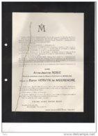 Aline Robie De Mercline Kervyn De Meerendré °1888 + 29/3/1930 Ukkel De Schietere De Lophem Solvyns - Avvisi Di Necrologio