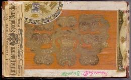 COMPANIA GENERAL De TABACOS De FILIPINAS - MANILA CIGARENN 100 Stuck WIEN  - 1911 - EXTRA RARE - Empty Tobacco Boxes