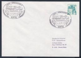 Deutschland Germany 1979 Brief Cover - Dampflokfest - Interessegemeinschaft Dampflokfreunde, Lauda-Königshofen - Treinen