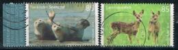 Bund 2018,Michel# 3352 - 3353 O  Tierkinder: Reh/ Seehund - [7] République Fédérale