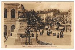 CAHORS Monument Et Boulevard Gambetta - Cahors