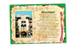 Cpm - 04 - Manosque - Légende Parchemin - 1991 - - Manosque