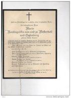 MARIE REICHSFRAFIN Welterholt Und Gysenberg Grafin Robiano ° 4/5/1865 Rumillies +Alsbach 5/5/1936 Der Straeten-Ponthoz - Avvisi Di Necrologio
