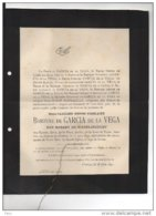 Baronne De Garcia De La Vega Née Robert De Wadelincourt ° 1825 + Flostoy 15/6/1892 Hamois Condroz - Avvisi Di Necrologio