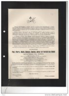 Paul Rittweger De Moor Veuf Burnell Juslenville Theux SAnchez De Aguilar De Meeus D'argenteuil °1873 + 30/1/1951 - Avvisi Di Necrologio