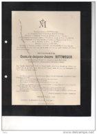 Charles Rittweger °1827 +Juslenville 30/8/1900 Roels De Moor Cabinet Ministre De La Guerre Visart De Bocarmé - Avvisi Di Necrologio