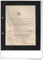 Auguste Baron Reynegom De Buzet °Mortsel 1835 + Wavre St Catherine 26/9/1905 Herenthout De Roye DeWichen De Meester - Avvisi Di Necrologio