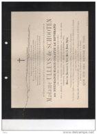Ullens De Schooten Née Le Révérand °Anvers 1833 + Château De Born 18/9/1894 Chambre Réprésentants Sittard Geleen - Avvisi Di Necrologio