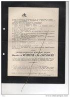 Nicolas De Résimont De Waldenbourg °chateau Bempt Moresnet 1826+Namur 1905 Walhorn Herbestal Kettenis Eupen Fabribeckers - Avvisi Di Necrologio