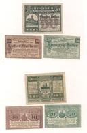 3 Notgeldscheine Amstetten 10, 20 + 50 H - Austria