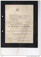Marie De Résimont DeBempt Waldenbourg °chateauRuyff Henri-Chapelle 1833+1913 Moresnet Kettenis Eupen Gourcy Serainchamps - Avvisi Di Necrologio