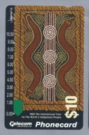 AU.- Telecom Phonecard $10. 1993 The International Year For The World's Indigenous Poeple Australia AUSTRALIË 0029668750 - Cultura