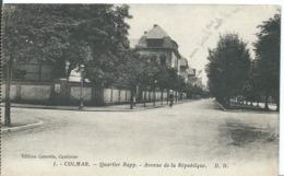 COLMAR   (   HAUT RHIN   )  QUARTIER RAPP. AVENUE DE LA RÉPUBLIQUE - Colmar