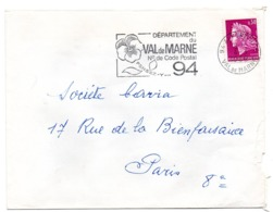 VAL De MARNE - Dépt N° 94 ALFORTVILLE 1968 = FLAMME Codée = SECAP  ' N° De CODE POSTAL / PENSEZ-Y ' - Zipcode