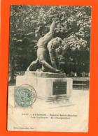 ET/213 AVIGNON  SQUARE SAINT MARTIAL LES LUTTEURS DE CHARPENTIER // écrite 1905  Timbre Poste - Avignon
