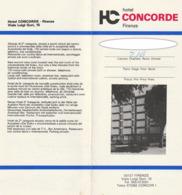 HOTEL CONCORDE FIRENZE - Folleto - Italia