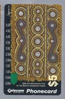 AU.- Telecom Phonecard $5. 1993 The International Year For The World's Indigenous Poeple Australia AUSTRALIË 0029259967 - Cultura