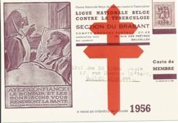 Belgium Antituberculosis Member'scard Year 1956 - Disease